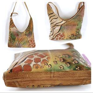 Anuschka Handpainted Leather Bags Multi Pocket